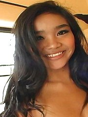 Mega hot little petite Thai babe Panni has a winning smile and a cum filled face