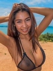 Thai Busty Tittiporn Outdoors fuck